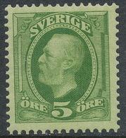 Sweden 1897, Facit # 52 Wm1/e.Oscar II Copperplate Recess, WM Crown . MH(*) - Neufs