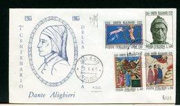 ITALIA - FDC - 1965 -  DANTE  ALIGHIERI - 6. 1946-.. Repubblica