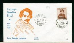 ITALIA - FDC - 1963 -  GIOACCHINO  BELLI - 6. 1946-.. Repubblica