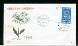 ITALIA - FDC - 1963 -  GIORNATA DEL FRANCOBOLLO - 6. 1946-.. Repubblica