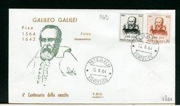 ITALIA - FDC - 1964 -  GALILEO  GALILEI - 6. 1946-.. Repubblica