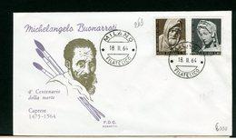 ITALIA - FDC - 1964 -  MICHELANGELO  BUONARROTI - 6. 1946-.. Repubblica