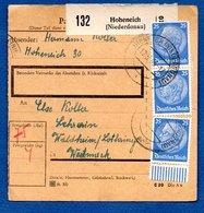 Colis Postal / De Hoheneich ( Niederdonau ) / Pour Waldheim - Alsace-Lorraine