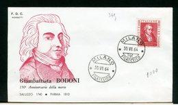 ITALIA - FDC - 1964 -  GIAMBATTISTA  BODONI - 6. 1946-.. Repubblica