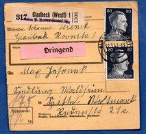 Colis Postal / De Gladbeck - Alsace-Lorraine