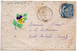 Sage 15c Sur Valentine De 1882 - Recto Correct Mais Verso Avec Défauts - 1877-1920: Période Semi Moderne