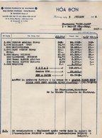 VP15.018 - INDOCHINE - VIETNAM - Facture - Grande Pharmacie De NHATRANG - M. BUISSON - Factures & Documents Commerciaux