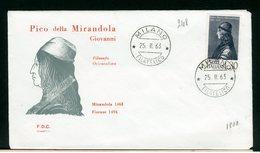 ITALIA - FDC - 1963 -  PICO DELLA MIRANDOLA - 6. 1946-.. Repubblica