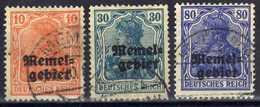 Memel 1920 Mi 14-15; 17, Gestempelt [020619XXVII] - Memelgebiet