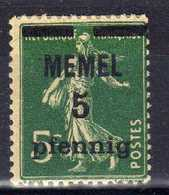 Memel (Klaipeda) 1920 Mi 18 C * [020619XXVII] - Memelgebiet