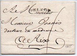 Marque Linéaire DE LYON Sur Lettre De 1755 - Poststempel (Briefe)