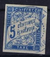 Colonies Francaises Tax Yv 18 Cachet A Date Reunion  Bleu - Segnatasse