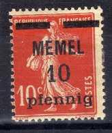 Memel 1920 Mi 19 X * [020619XXVII] - Memelgebiet