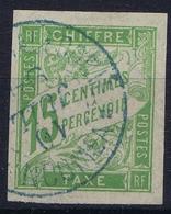 Colonies Francaises Tax Yv 20 Cachet A Date Nouvelle Caladonie Noumeá Bleu - Impuestos