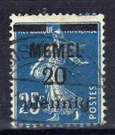 Memel 1920 Mi 20, Gestempelt [020619XXVII] - Memelgebiet
