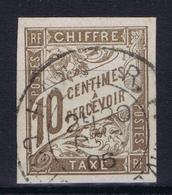 Colonies Francaises Tax Yv 19 Cachet A Date Cochinchine Hanoi - Impuestos