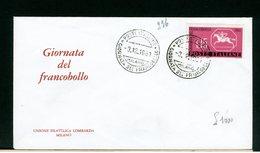 ITALIA - FDC - 1961 - GIORNATA DEL FRANCOBOLLO - 6. 1946-.. Repubblica