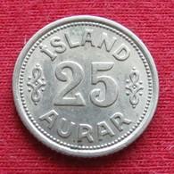 Iceland  25 Aurar 1940 KM# 2.2  Islandia Islande Island Ijsland - Islande