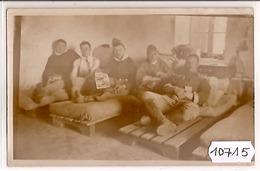 10715  SYRIE  AK PC CARTE PHOTO  MAALAKA   LE P.H.R. DU 8° RAD  LA PIOLE DES ANCIENS ET LEURS PADOOKS - Siria