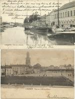 P097 LOKEREN : Grote Markt En De Durme, 2 Gelopen Kaarten - Lokeren