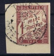 Colonies Francaises Tax Yv 26 Cachet A Date Cote D'Ivoire Touba - Impuestos