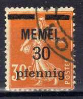 Memel 1920 Mi 21 Y, Gestempelt [020619XXVII] - Memelgebiet