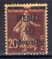 Memel 1920 (Klaipeda) Mi 22 * [020619XXVII] - Memelgebiet
