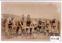 10716  SYRIE  AK PC CARTE PHOTO  MAALAKA   LE P.H.R. DU 8° RAD  LE JOUR D UN GRAND LAVAGE - Siria