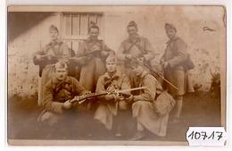 10717  SYRIE  AK PC CARTE PHOTO  MAALAKA   LE P.H.R. DU 8° RAD  UN JOUR DE REVUE - Siria