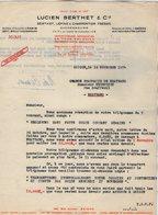 VP15.020 - INDOCHINE - VIETNAM - Lettre - Maison Lucien BERTHET & Cie Importateurs - Grossistes ... à SAIGON - Factures & Documents Commerciaux