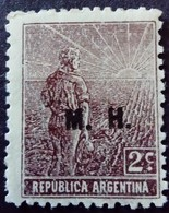 Argentine Argentina 1913 Villageois Villager Aldeano Surchargé Overprinted M.H. Service Servicio Yvert S106 * MH - Service