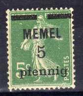 Memel (Klaipeda) 1920 Mi 18 B ** [020619XXVII] - Memelgebiet