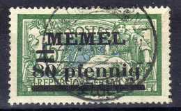 Memel (Klaipeda) 1920 Mi 25 Gestempelt [020619XXVII] - Memelgebiet