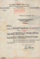 VP15.021 - INDOCHINE - VIETNAM - Lettre - Maison Lucien BERTHET & Cie Importateurs - Grossistes ... à SAIGON - Factures & Documents Commerciaux