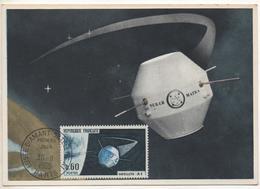 Satellite Expérimental A1 De MATRA Lançé Par Fusée DIAMANT De Kourou Guyane, Premier Jour 30 Novembre 1865. - GPS/Avionique