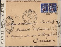 Censures Bande Contrôle Postal Militaire + Ouvert Autorité Militaire + Contrôle Postal Commission A Cameroun - Marcophilie (Lettres)