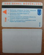 AC - MULTIPLE RIDE SUBWAY, METRO, BUS CARD STUDENT ANKARA, TURKEY - Autres