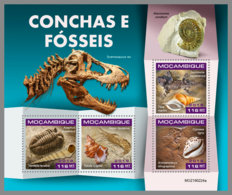 MOZAMBIQUE 2019 MNH Fossils Fossilien Fossiles M/S - OFFICIAL ISSUE - DH1921 - Fossili