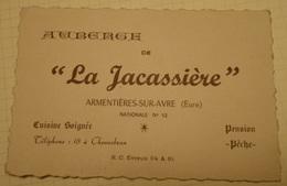 Carte Auberge La Jacassière Armentières Sur Avre ( 27 Eure ) Nationale 12 - Sport & Tourismus