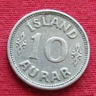 Iceland  10 Aurar 1922 KM# 1.1  Islandia Islande Island Ijsland - Islande