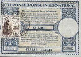 Coupon Réponse International Italie 60 Lire YT 799 Poste Italiane CAD ? Centro Rago 17 12 60 - Cupón-respuesta