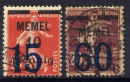 Memel 1921 Mi 34-35, Gestempelt [020619XXVII] - Memelgebiet