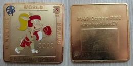 AC - 2nd AIBA WOMEN'S BOXING CHAMPIONSHIP OCTOBER 21 - 27, 2002 ANTALYA MEDAL TURKEY - Kleding, Souvenirs & Andere