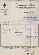 VP15.024 - INDOCHINE - VIETNAM - Facture - Compagnie OPTORG à SAIGON - Factures & Documents Commerciaux