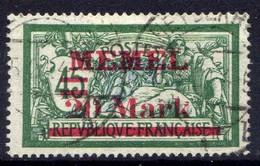 Memel 1921 Mi 39 II, Gestempelt [020619XXVII] - Memelgebiet
