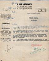 VP15.025 - INDOCHINE - VIETNAM - Lettre - A. CH. MICHAUX Opticien Diplomé à SAIGON - Factures & Documents Commerciaux