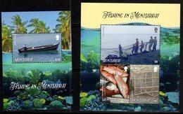 MONTSERRAT,  2018, MNH, FISH, FISHING IN MONTSERRAT, FISHERMEN, CORTALS, BOATS,   SHEETLET +SS, HIGH FV - Poissons
