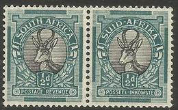South Africa - 1937 Springbok 1/2d Bilingual Pair MNH **    SG 75b   Sc 46b - Unused Stamps