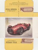 FULL SPEED VIRGINIA Nr 182 Maserati 1953 - Cigarette Cards