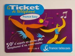 Télécarte - Le Ticket De Téléphone - France Easy - Phonecards
